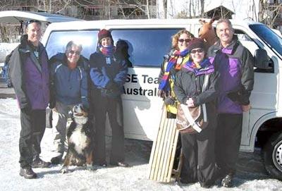 Auf dem Foto sind Peter Wilson, Peter Kälin, Sandra Cormack, Peta Jackson, Colleen Fish und Ian Wilsonl zu sehen (v. l. n. r) .